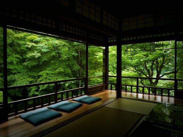 Holz Terrasse überdacht Zen Stil Garten japanisch | Japanische ...