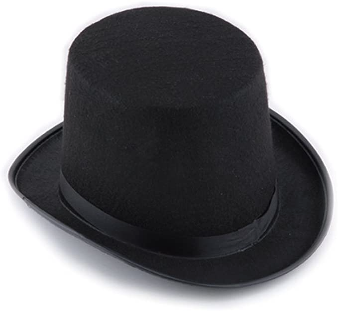 Amazon Com Black Top Hat Unisex Dress Up Hat Costume Hats For Magician Or Ringmaster Theater Magic Hats Costume Hats Black Top Hat Halloween Party Costumes