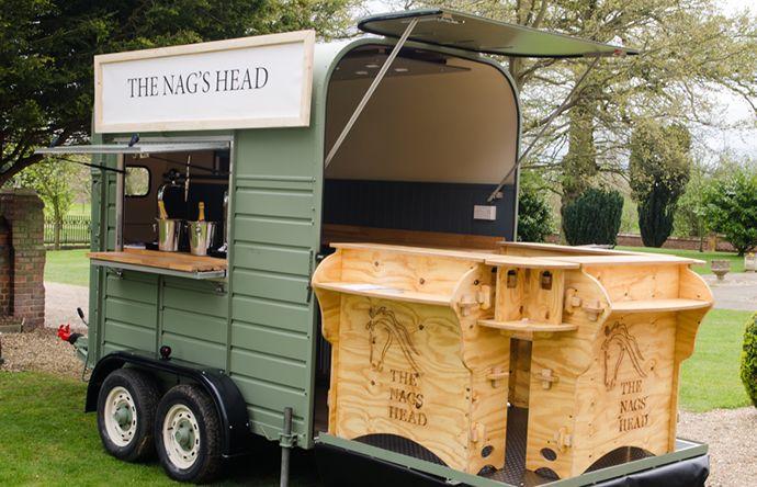 The nags head horsebox bar wedding pinterest bar for Food truck bar
