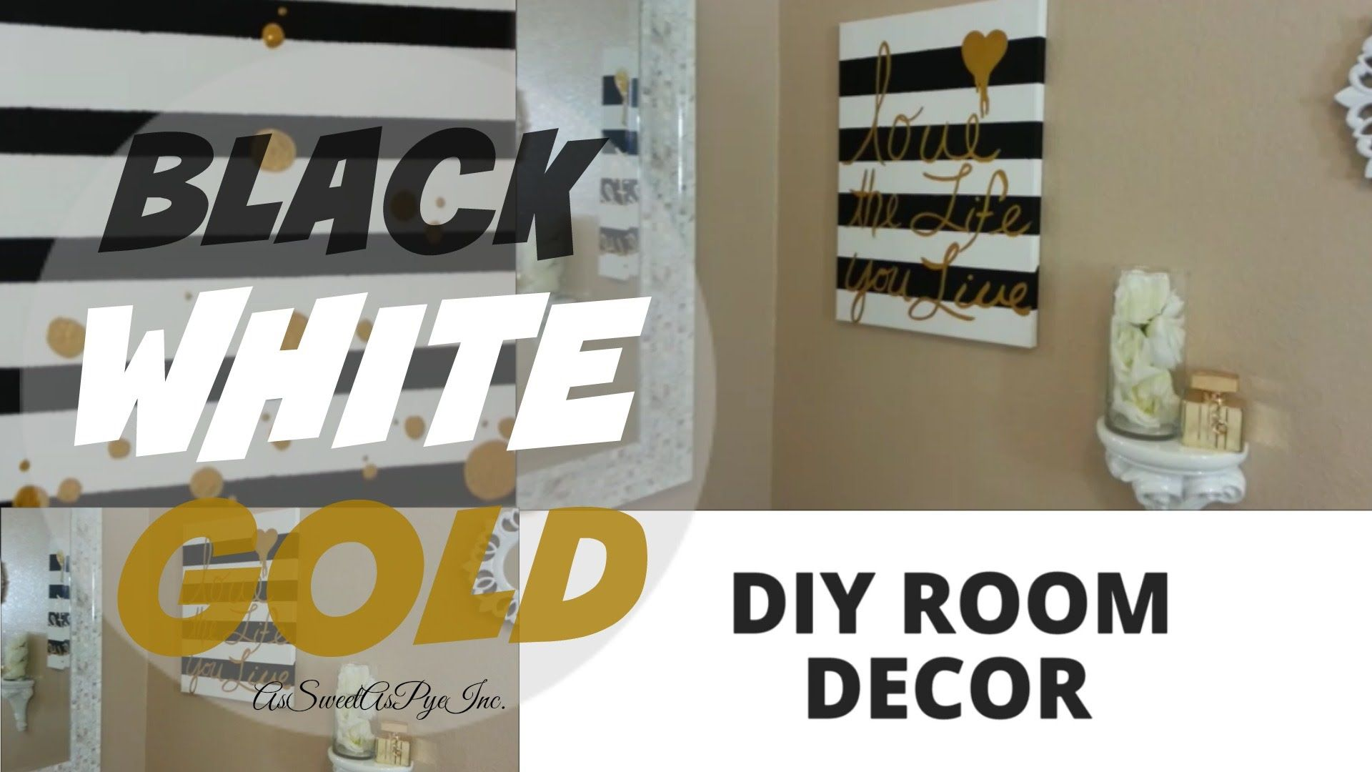 Diy Room Decor Black White Gold Outside Home Improvements