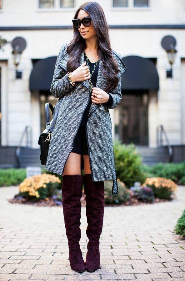 Street Style Tweed Coat 2017 Street Style