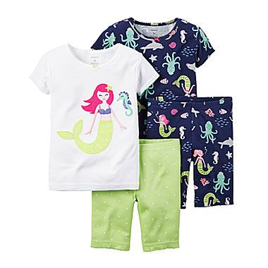 96f3b0773ff57 jcp | Carter's® 4-pc. Mermaid Pajama Set - Baby Girls newborn-24m ...
