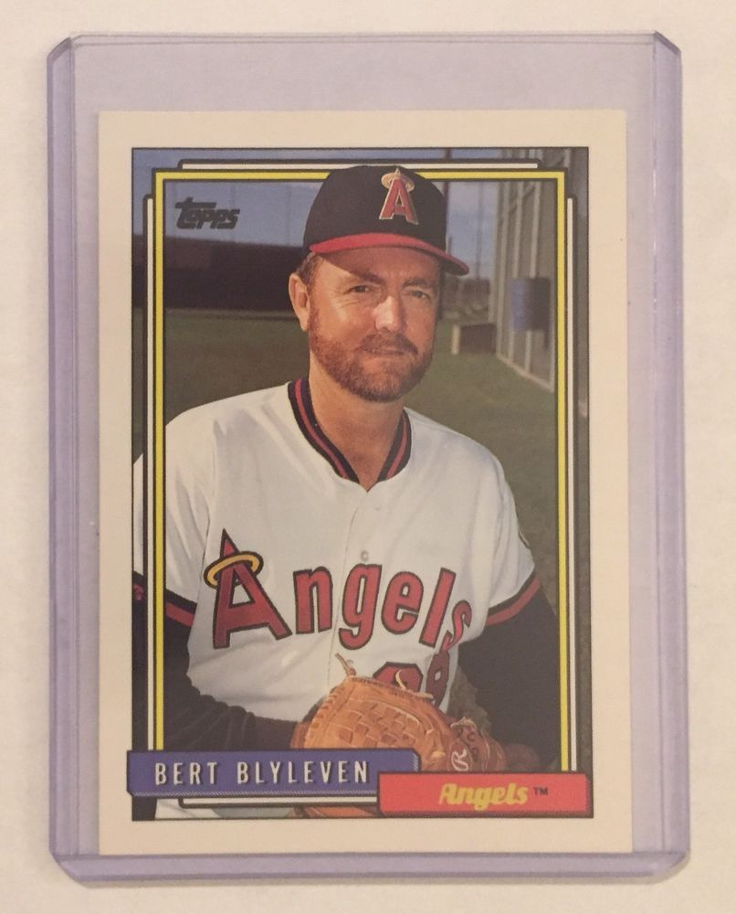 Topps 1992 Baseball Card 375 Bert Blyleven (P) Angels