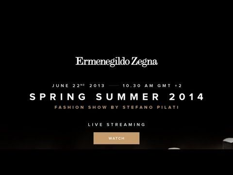Zegna SS 2014 Fashion Show by Stefano Pilati FULL Video