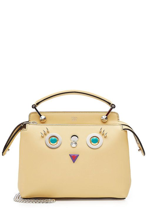 0e7727a439 FENDI Small Dot Com Bag with Face Detail.  fendi  bags  leather ...