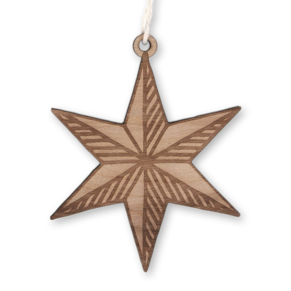 Chicago Star Wood Ornament Wood Ornaments Ornaments Stars