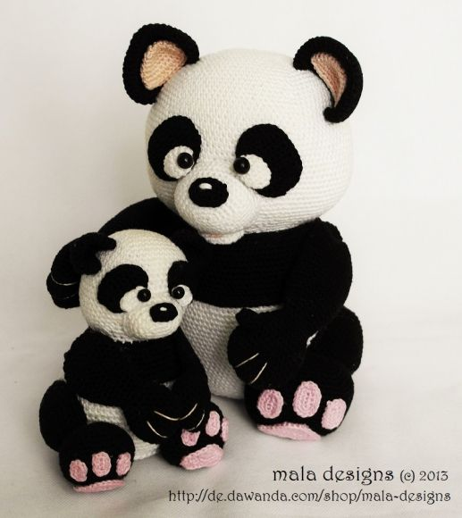 Panda   Crochet animals   Pinterest   gehäkelter Panda ...