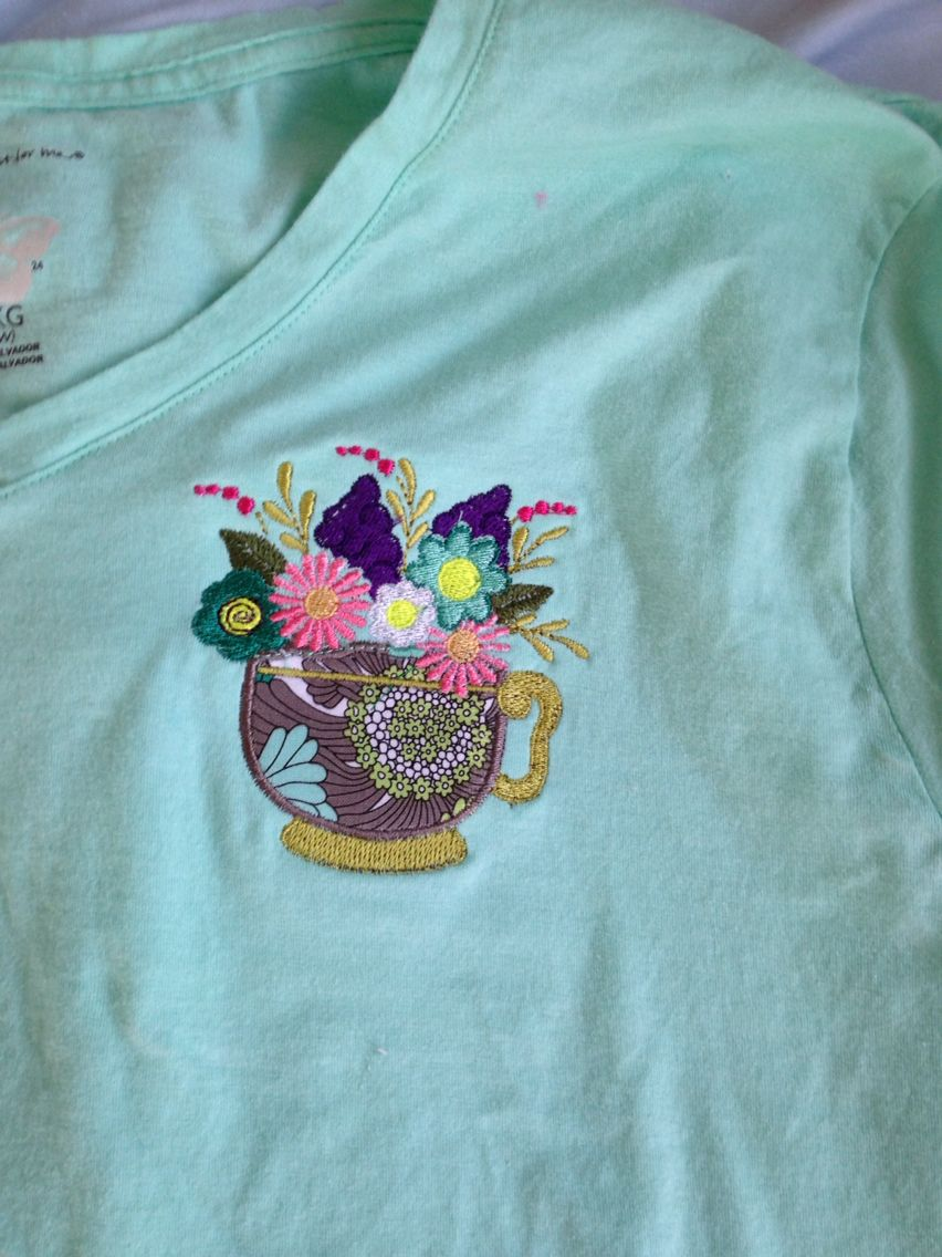 Machine embroidery and appliqué