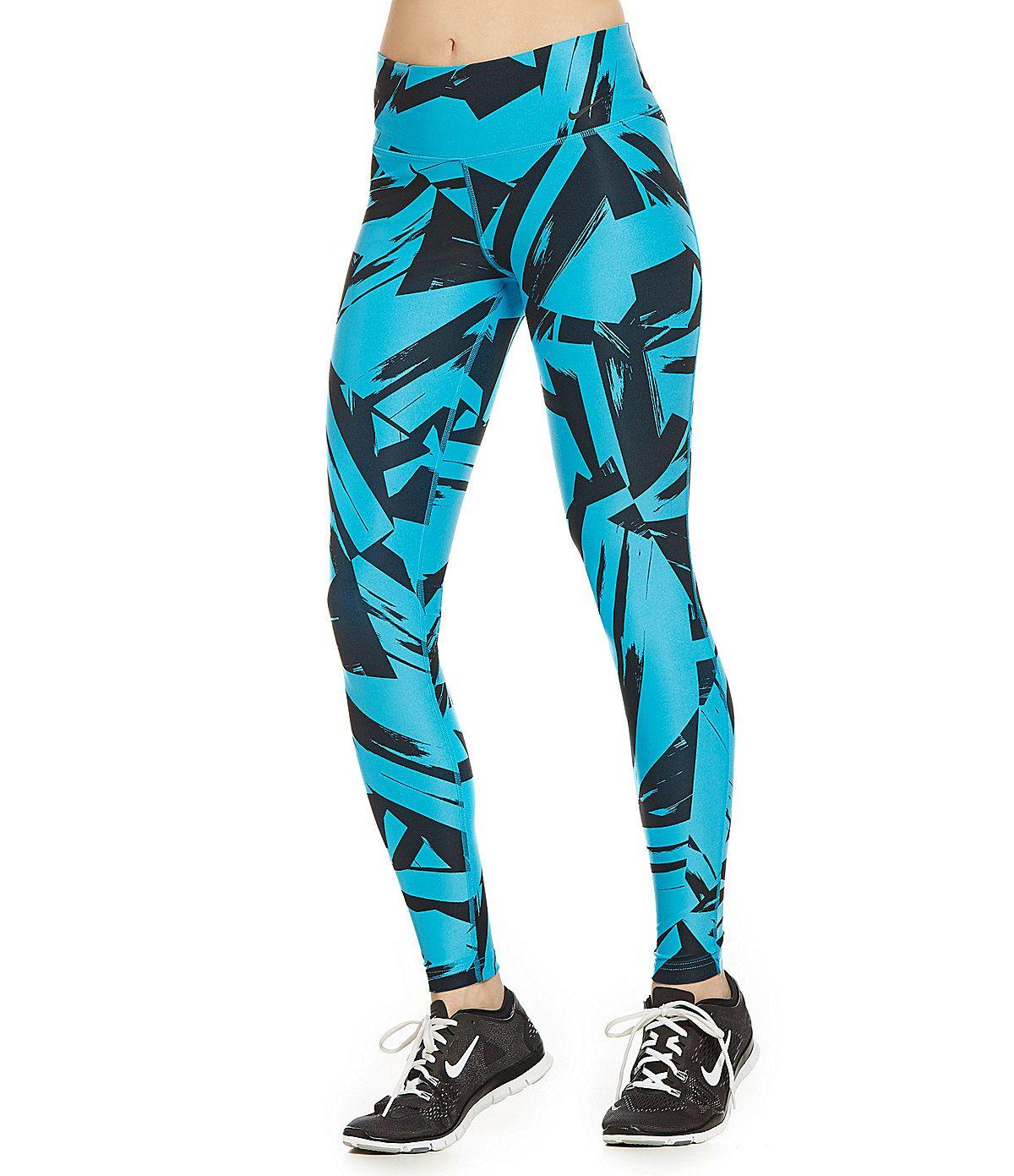 Nike Legend 2.0 Floe Paint Swipe-Print Tights Leggings  3ea3d56e91a3