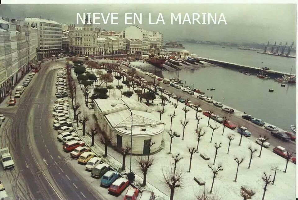 Nieve En La Marina A Coruña Paisajes De España Fotos Antiguas Fotos Fantasticas