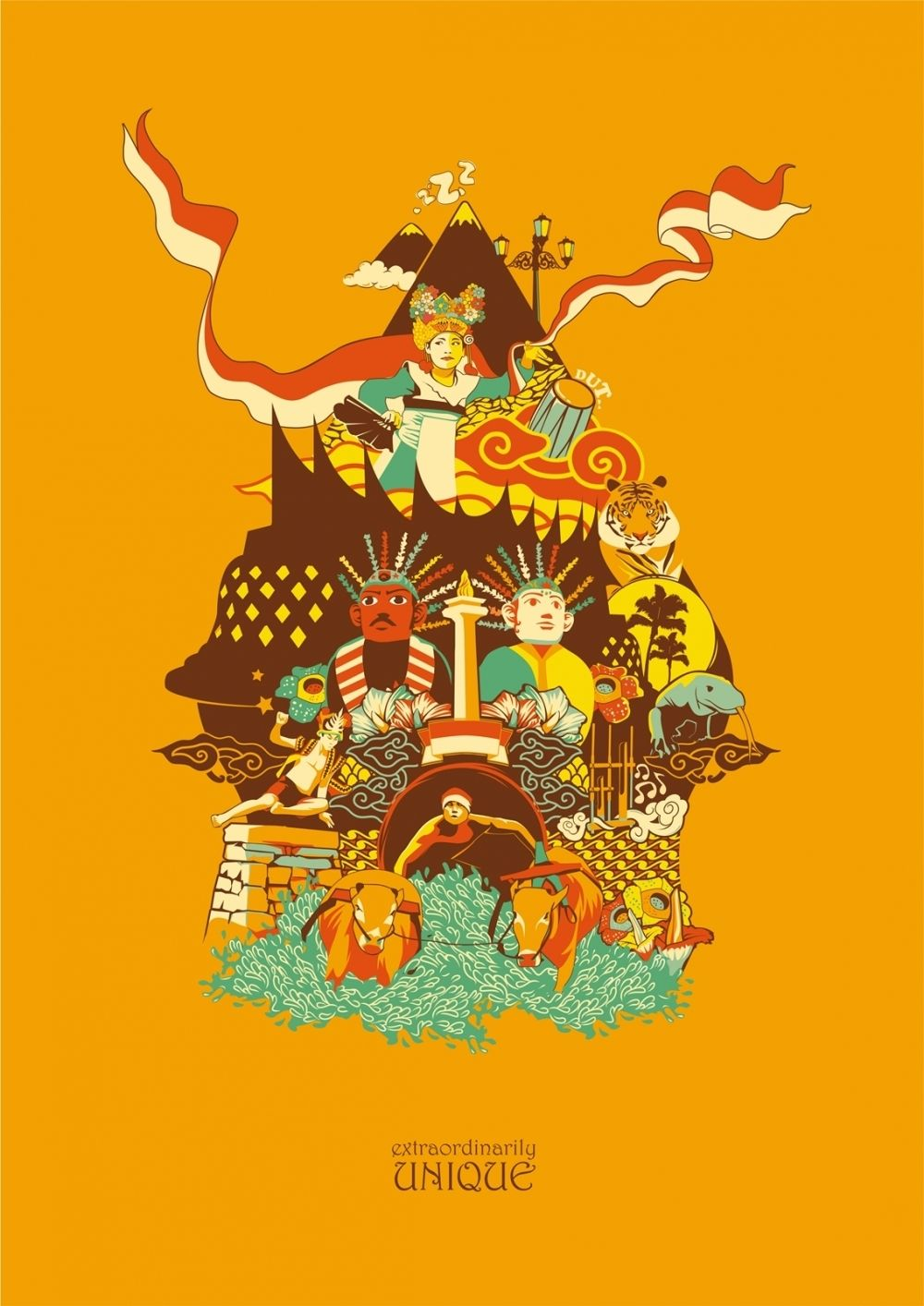 EXTRAORDINARILY UNIQUE by Mrcarik Indonesian art, Paper