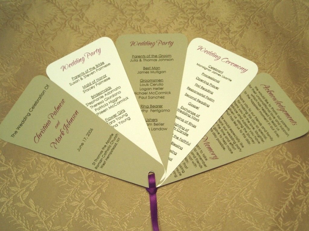 Make Your Own Wedding Program FANS If You Are Having An Outdoor Even Its Not Hot It Can Keep Bugs Away