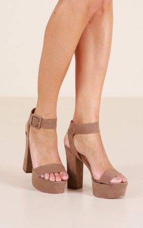 therapy shoes  lelda in taupe  heels shopping womens