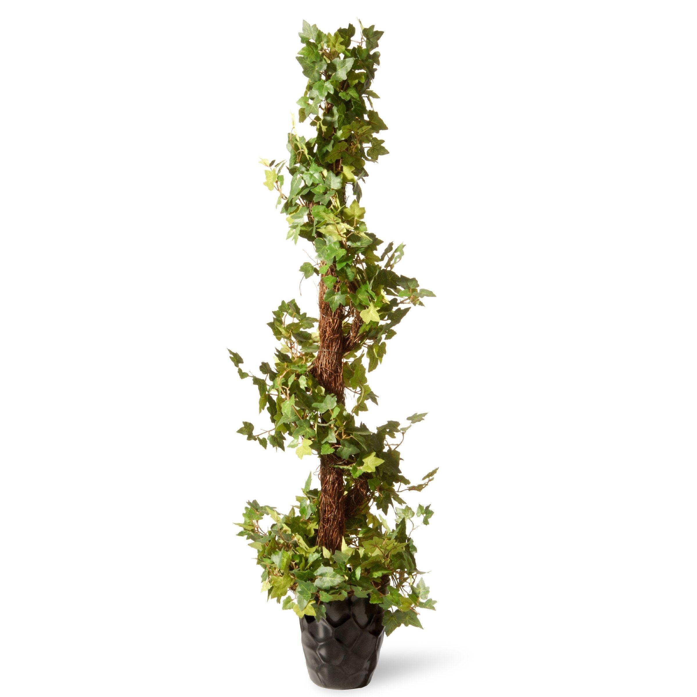 Decorative Natural Looking Artificial Faux Fake 3/' Cedar Spiral Silk Tree Plants