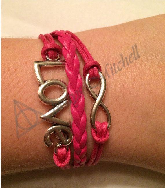 Amazing Charm Bracelets for Cheap! Pink, Love, Infinity, Charm, Bracelet! Etsy.com