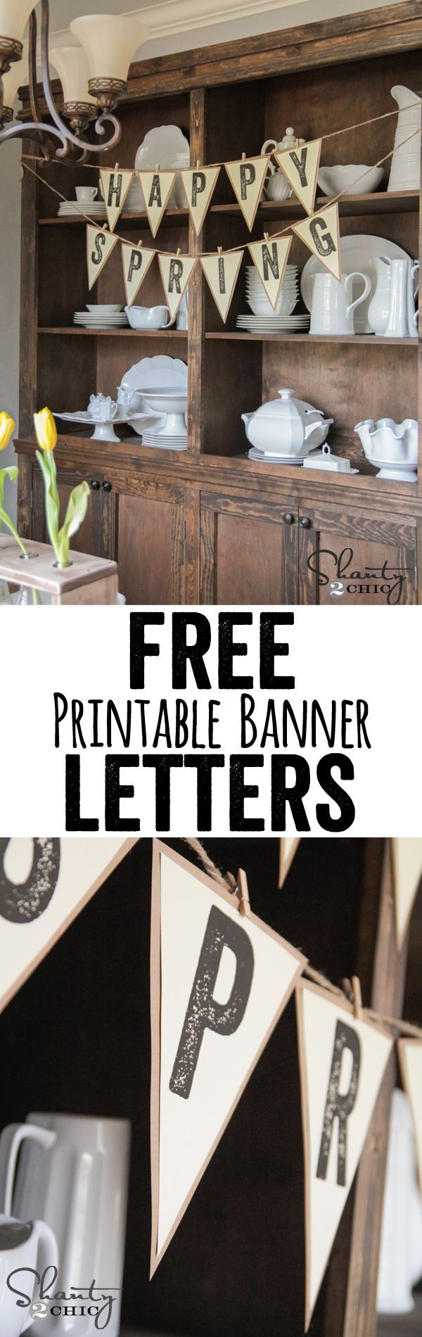 Design a banner to print - Free Printable Letter Banners At Www Shanty 2 Chic Com Print