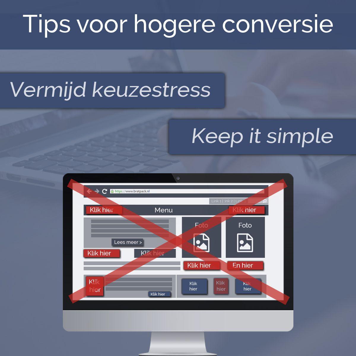 Conversies verhogen op je website? Verminder keuzestress!