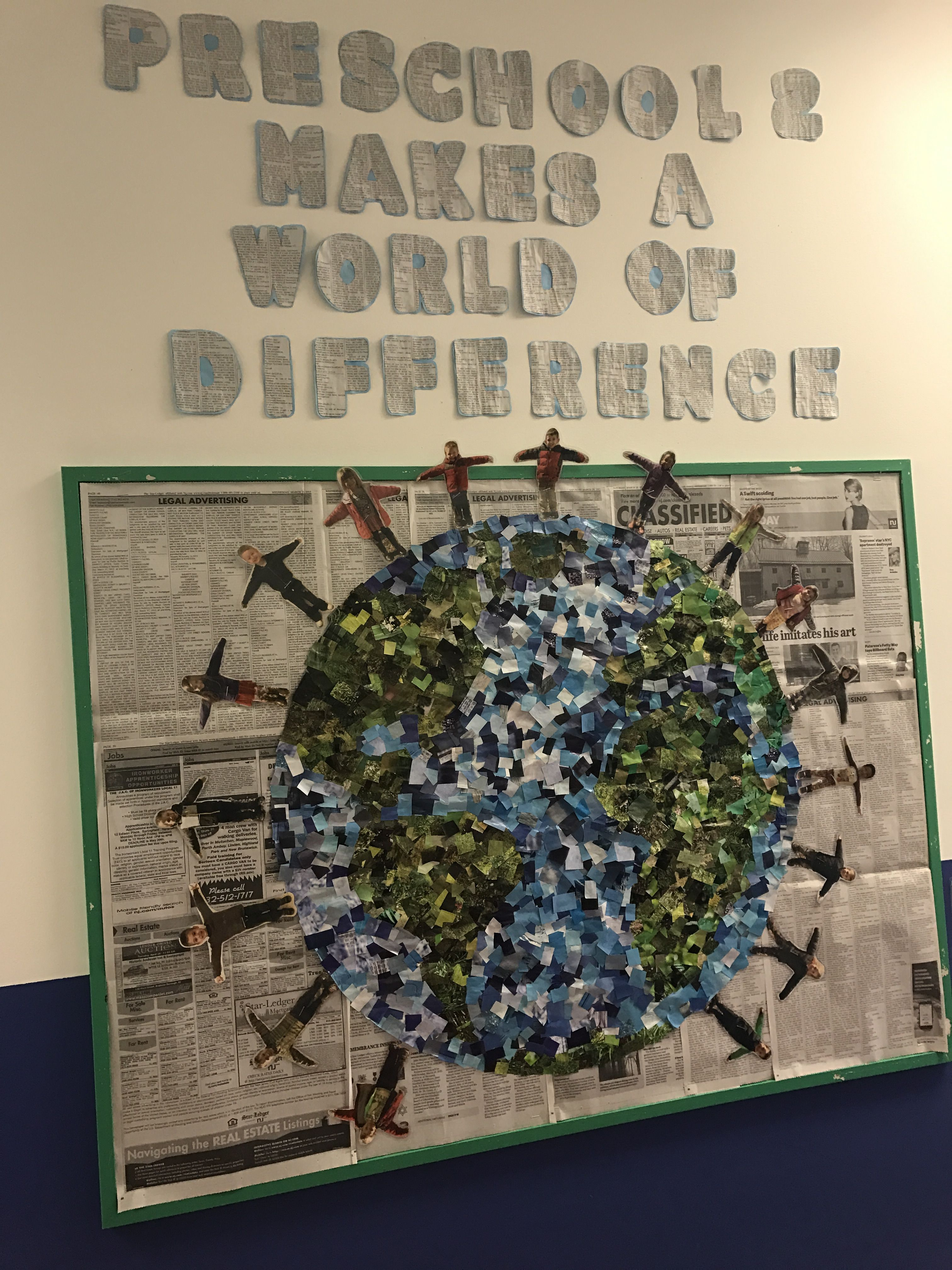 Earth Day Bulletin Board Recycled Materials