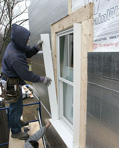 An Exterior Energy Upgrade Uses Jamb Extensions To Align New Windows With  Rigid Foam Board Insulation Awesome Design