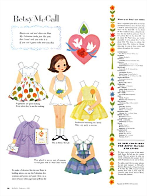 Betsy Mcall paper doll 1959 ...........•❤° Nims °❤•