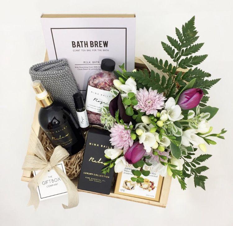 Pamper Gift Box Wedding Gift Boxes Realtor Gifts Pampering Gifts Basket