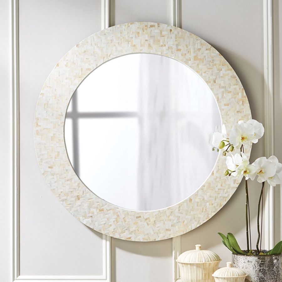 Large Round Mother Of Pearl Lantana Wall Mirror Mirror Wall Round Wall Mirror Mother Of Pearl Mirror Mother of pearl wall mirror
