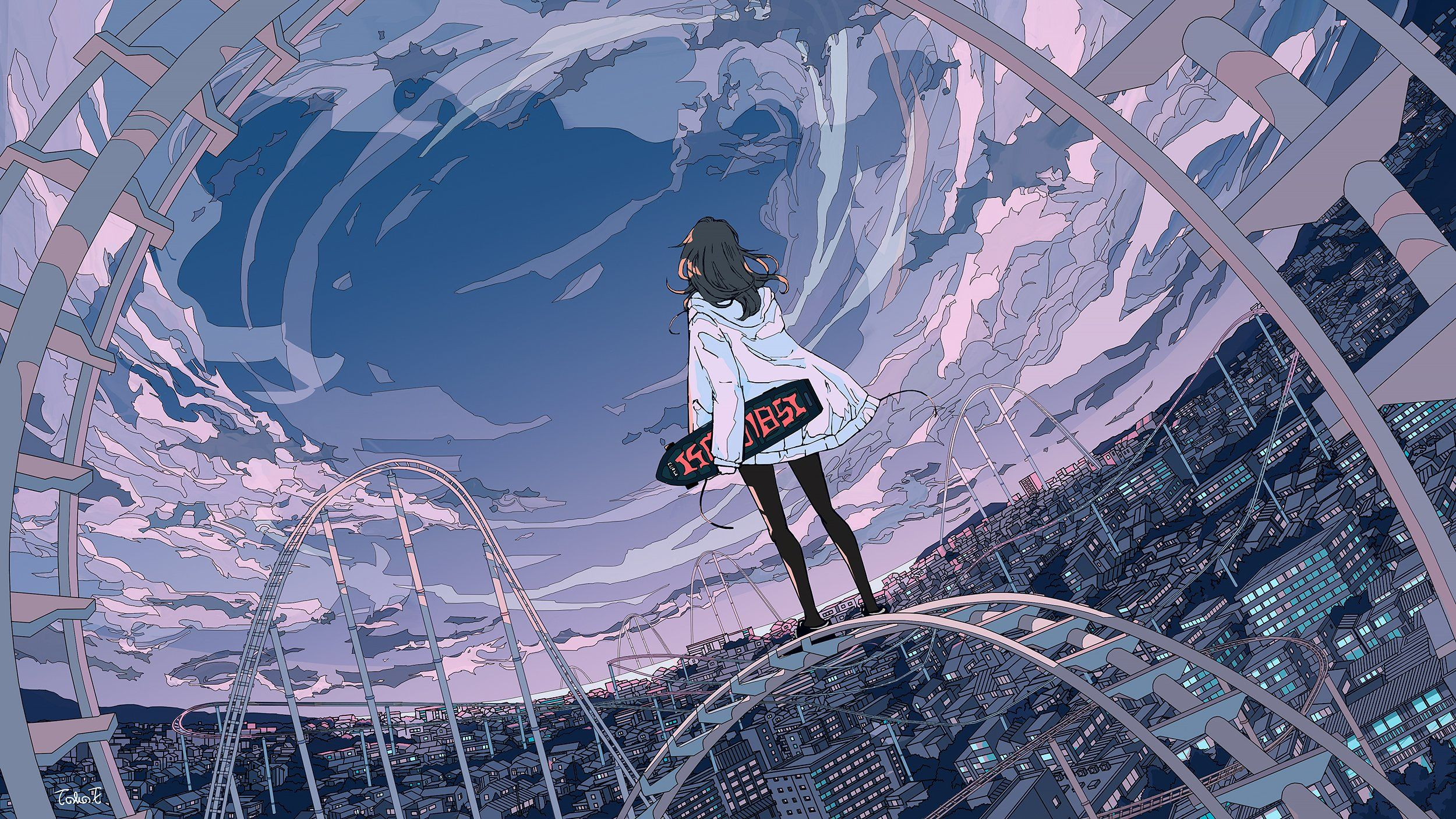 4k Wallpaper Anime Landscape Hd Art Wallpaper Fotos De Wallpaper Silueta De Chica Fondo De Pantalla Del Ordenador Portatil