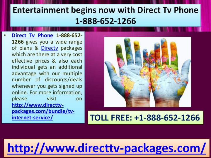 Entertainment begins now with Direct Tv Phone 1888652