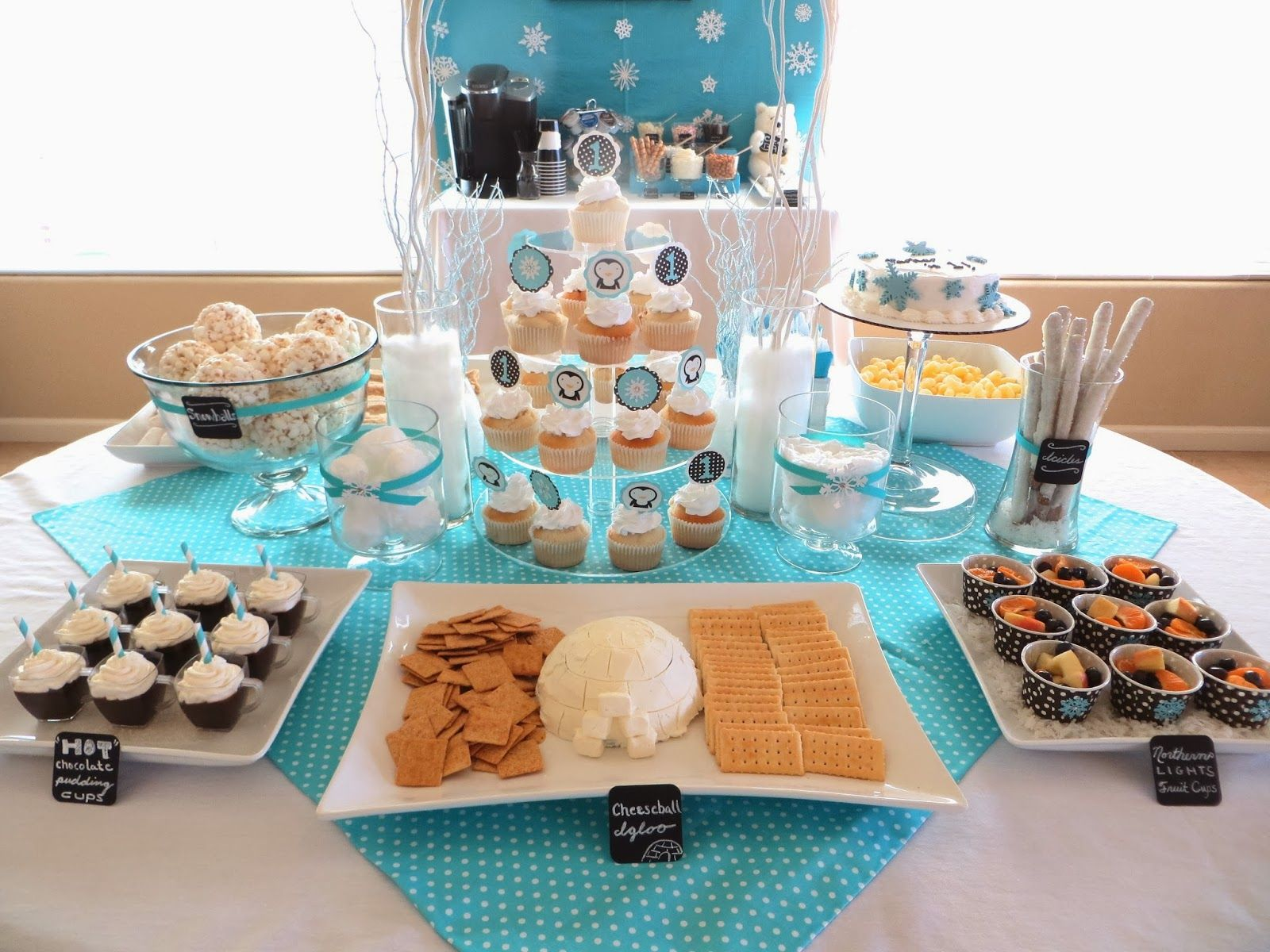Winter Onederland ideas for party food, decorations