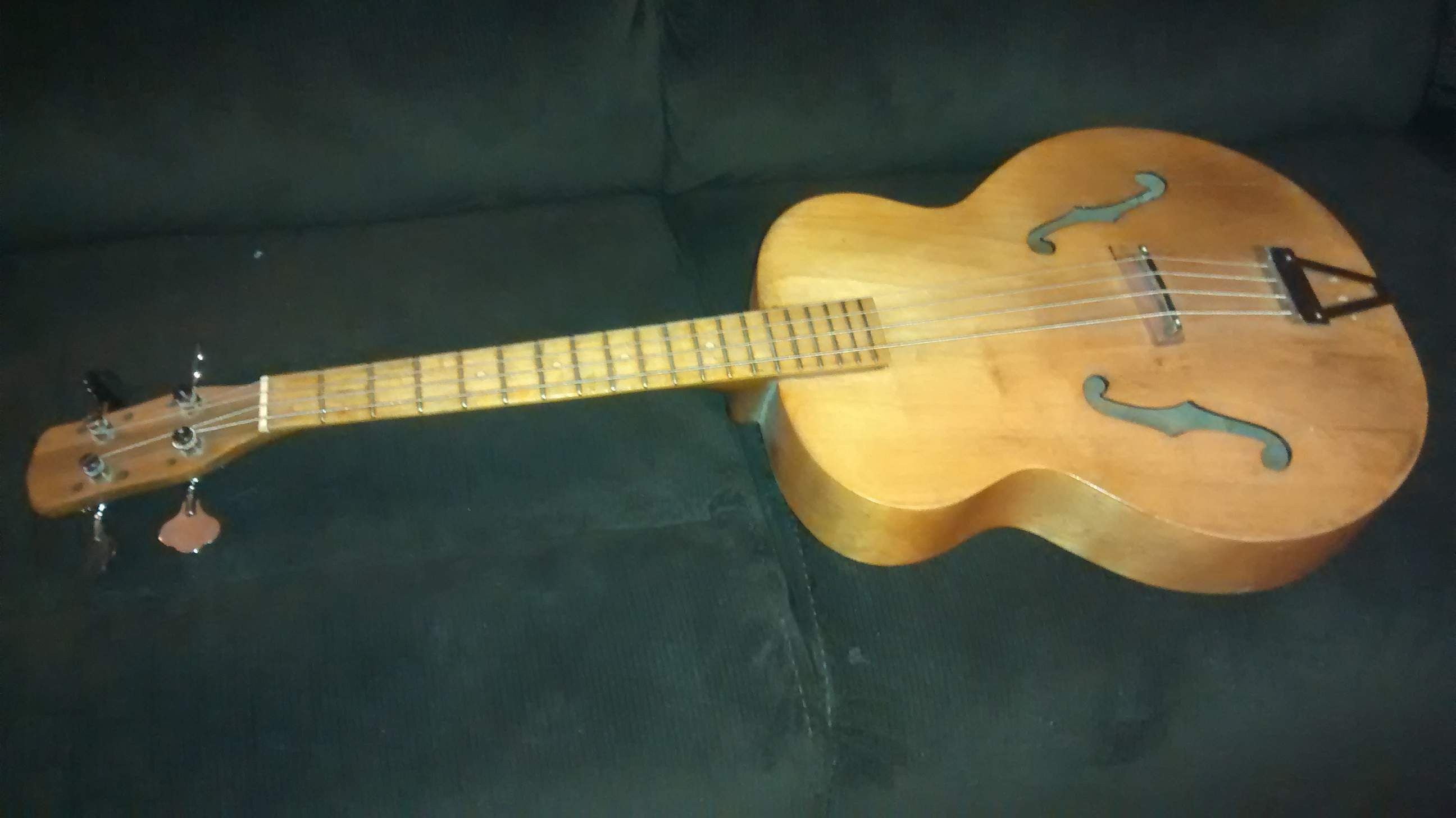 My Acoustic Guitar To Bass Conversion Guitar Acoustic Acoustic Guitar