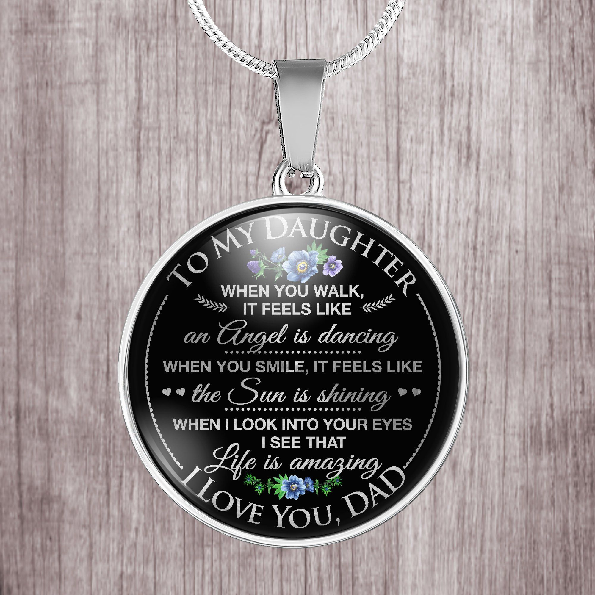 To my daughter I see as an angel dancing stainless steel necklace  #art #design #gifts #giftguide #gift #giftideas #birthday #designtimegnc #handmade #gifting