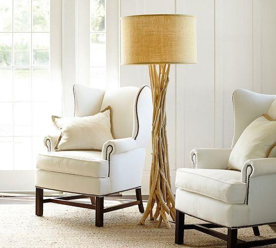 Driftwood floor lamp pottery barn 419 100w max shade 215 dia driftwood floor lamp base mozeypictures Images