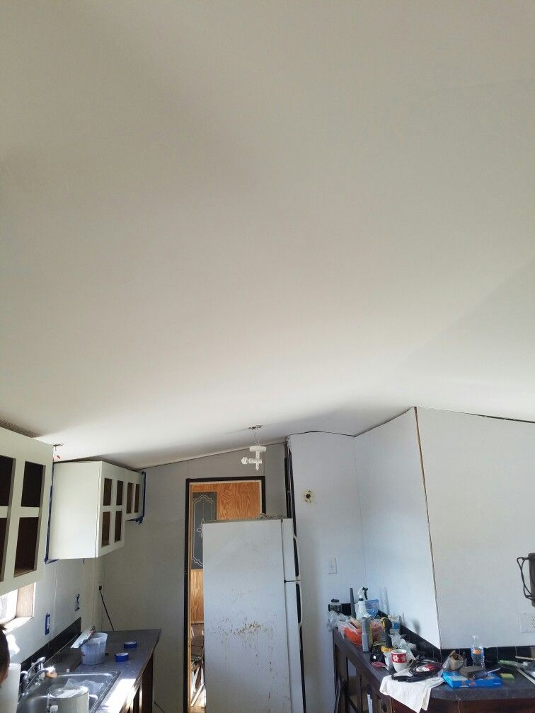 Ceiling painted.