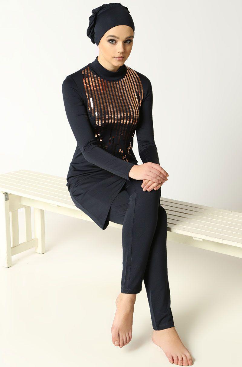 Hasema Tamkapalimayo Burkini Muslimswimwear Fullycoveredswimsuit Womenswimwear Spor Giyim Mayolar Moda