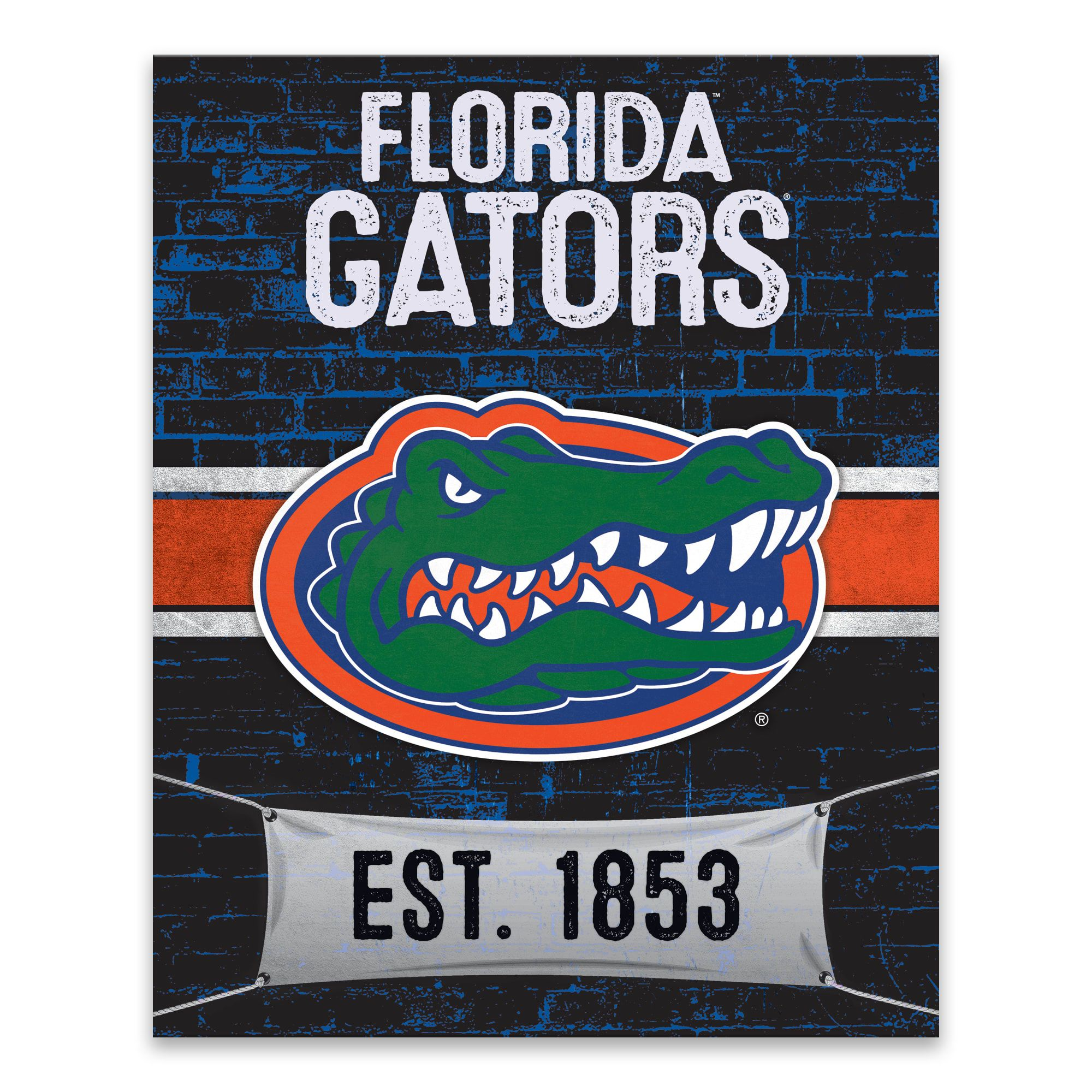 Florida Gators Brickyard Design Officially Licensed Printed Canvas Art Canvas Wall Art Florida Gators Wall Art