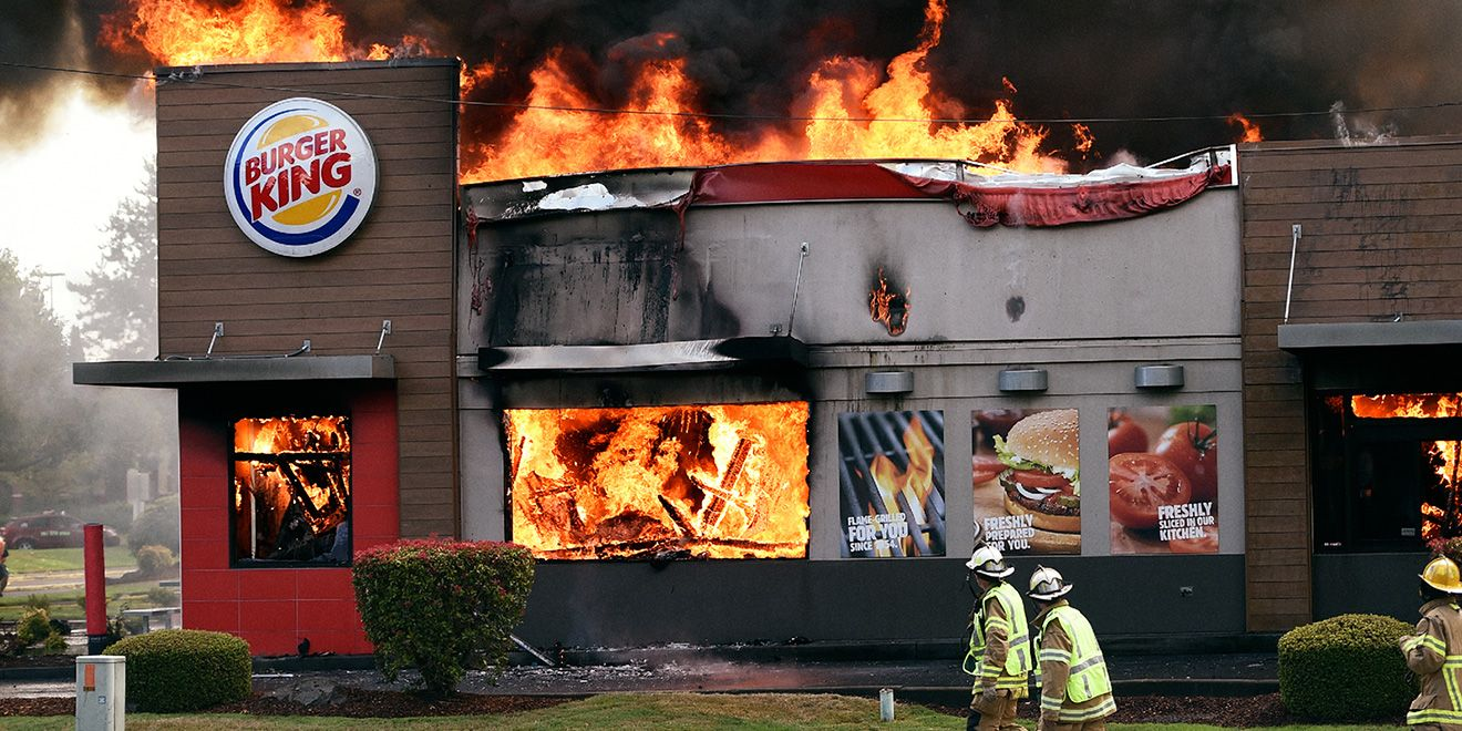 Burger King S Awesome New Ads Show Actual Bks That Caught Fire