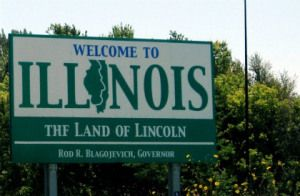 Image result for road sign welcome ILLINOIS
