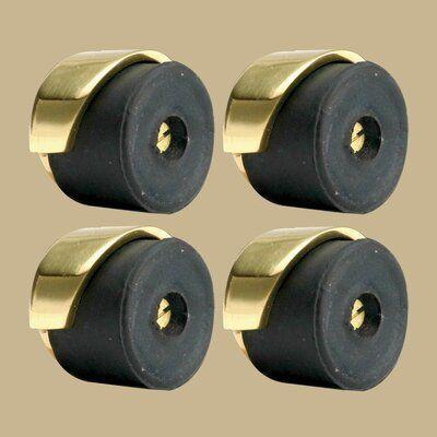 The Renovators Supply Inc Round Door Bumper Brass Floor Mount Stop Door Accessories Round Door Flooring
