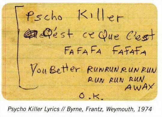 talking heads psycho killer