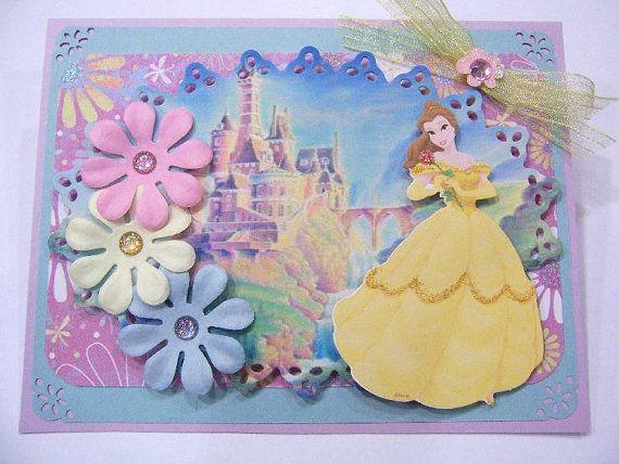 princess belle birthday handmade card  cards handmade
