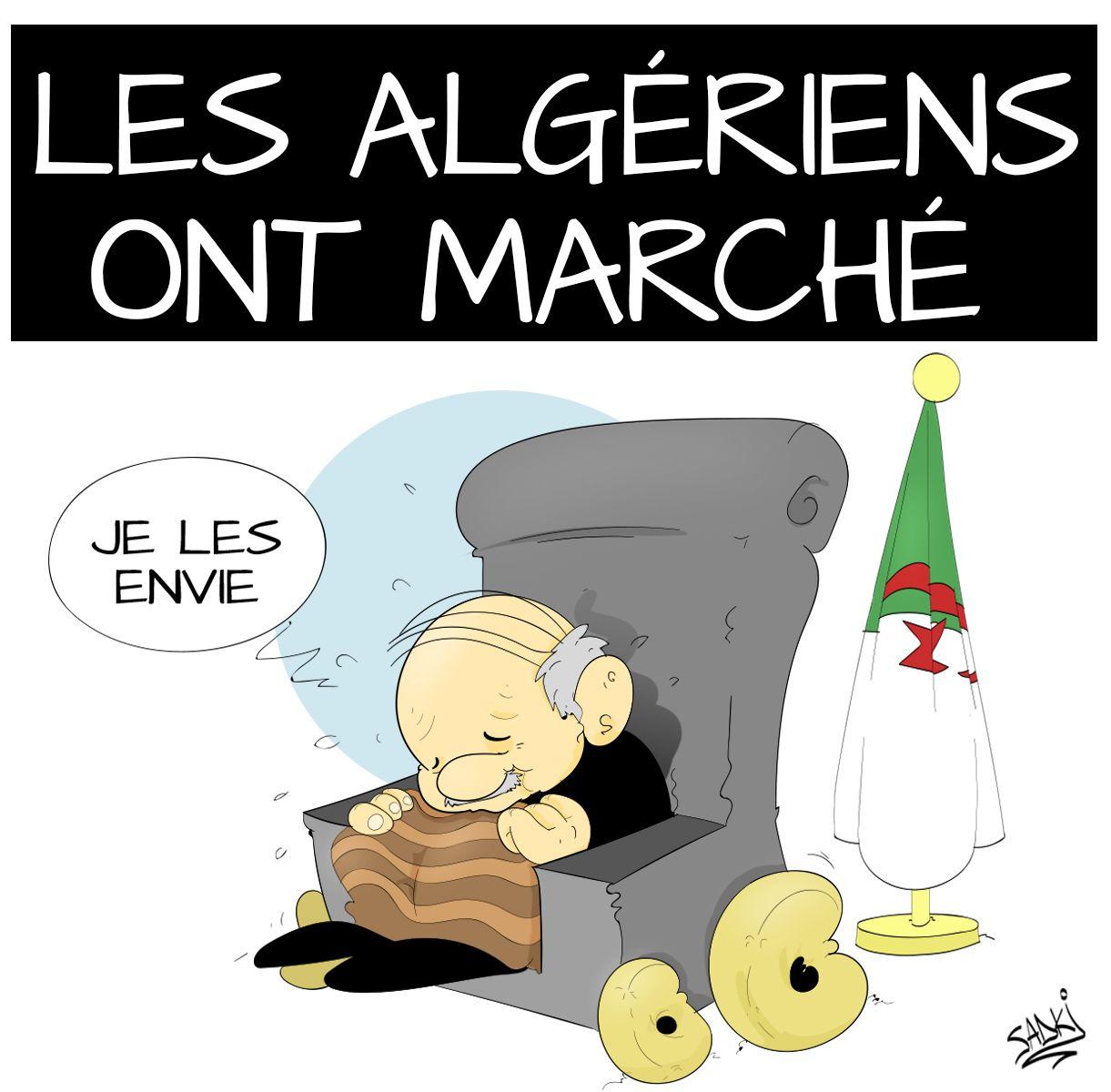 Les Algeriens Ont Marche Contre Le 5e Mandat De Bouteflika Caricature Caricature Alger Algerien
