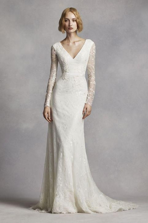 Love sheer long sleeves on a wedding dress? Check out 31 styles we love with sheer and lace sleeves