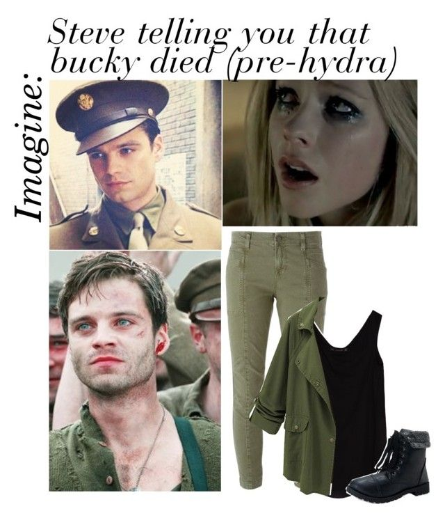 Imagine Steve Telling You Bucky Died Requested By X Carapherneila X Liked On Polyvore Featuring Art Avengers Outfits Bucky Barnes Imagines Marvel Funny