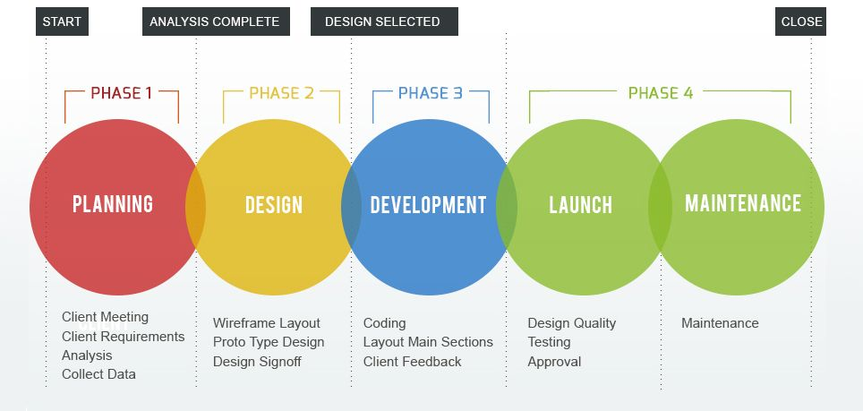 4 Phases Of Web Development Which Occur In The Website Development Web Development Design Web Design Website Development Process