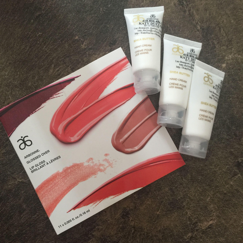 Échantillons pour de futures clientes Arbonne Life crème à mains gloss maquillage