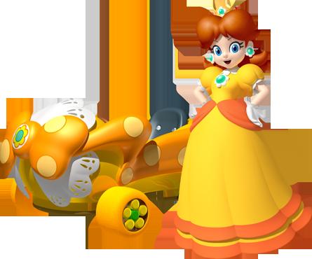 Princess Daisy - Mario Kart 7 | Mario kart, Kart, Nintendo 3ds