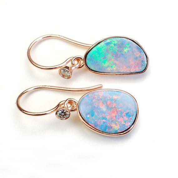Opal Earrings Diamond Australian By Nixin 535 00