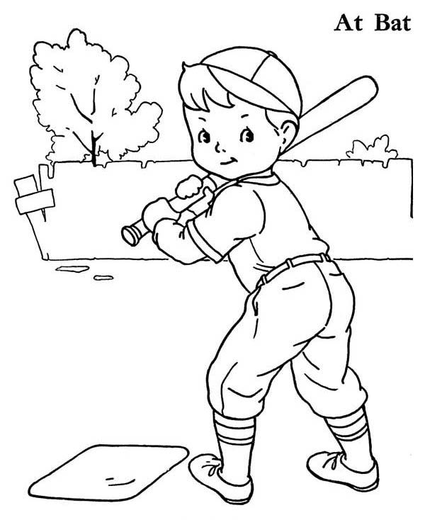coloring pages baseball player - photo#24