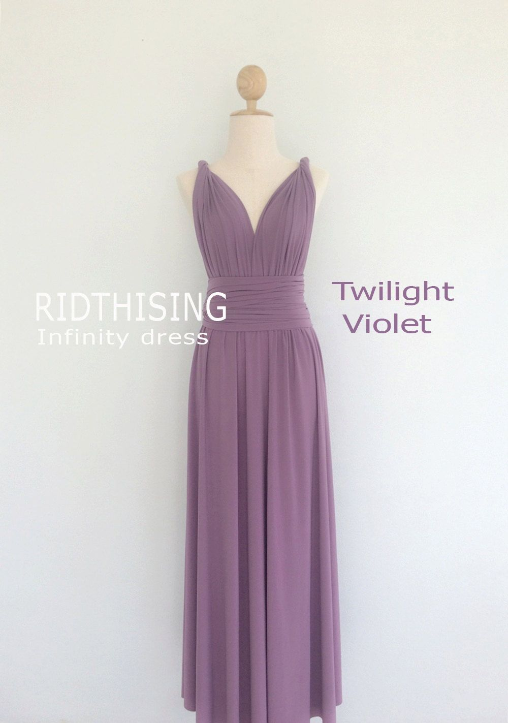 A stunning Convertible infinity wrap maxi Bridesmaid dress, this is ...