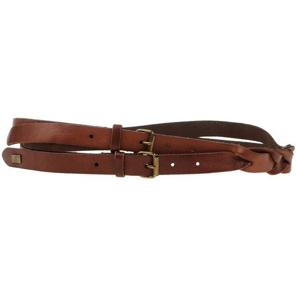 Yerse Belt ($53) ❤ liked on Polyvore featuring accessories, belts, dark brown, genuine leather belts, buckle belt, dark brown leather belt, 100 leather belt and leather belts